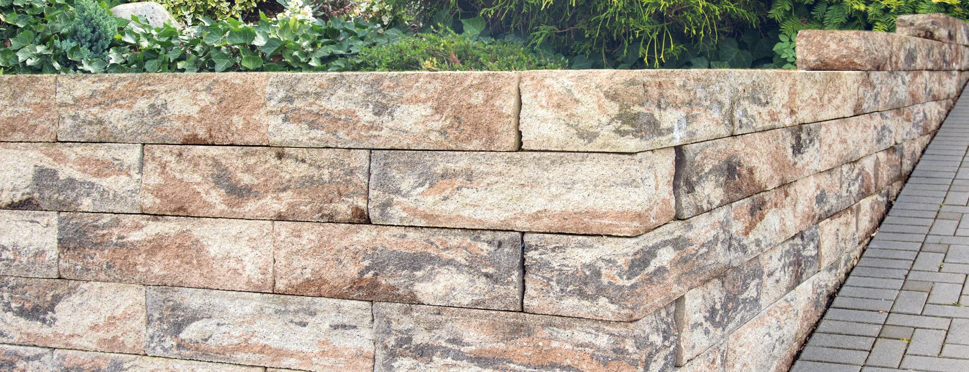 Muschelkalk Mauer cantano mauer lintel gruppe